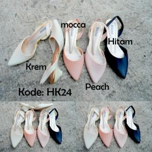 Jelly Shoes Heels HK24 / HK024 Sepatu Cewek Trendy