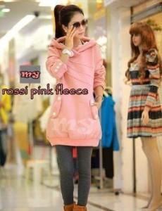 Rossi Pink Fleece Cewek Cantik Pink