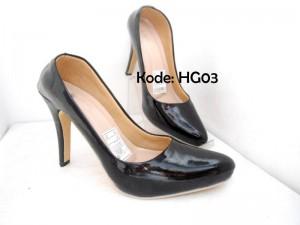Sepatu High Heels Glossy HG03 Trendy Formal Casual