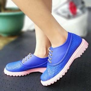 Sepatu Kets Wanita Cewek Docmart PN25 Biru Tua