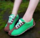 Sepatu Kets Wanita Casual Hijau Coklat DN07