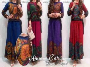 Dress Cewek Muslim Ainun Maxi Beautiful