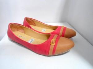 Sepatu Cewek Wanita Flat Shoes ZN01 Flat Lucu Warna Merah