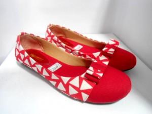 Sepatu Flat JL85 Merah Flat Shoes Kanvas