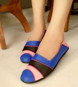 Ready Stock Sepatu Flat US55 / Flat Shoes US55 Berkualitas Warna Biru