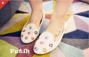 Venus Flat Shoes Bahan Sintetis Kulit Sepatu Casual