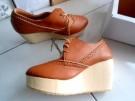 Wedges Boots Amanda Sepatu Warna Coklat