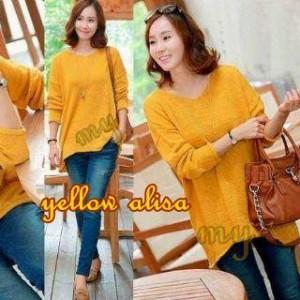 Atasan Cewek Yellow Alisa Sweter Polos