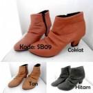 Boots Heels Wanita SB09 Sepatu Cewek Keren Trendy