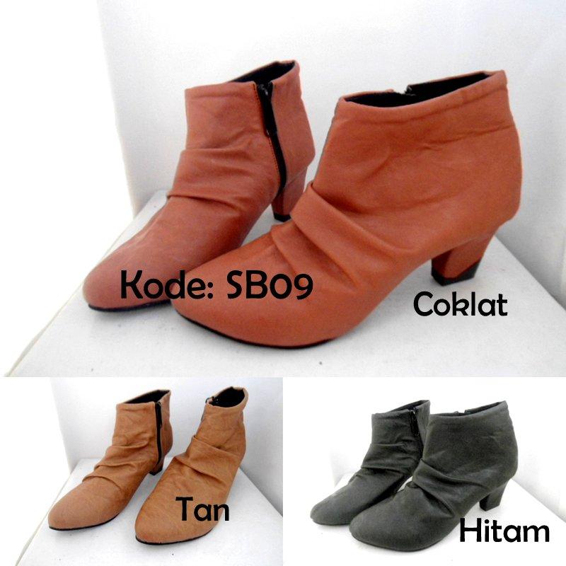 Jual Murah Boots Heels Wanita SB09 Sepatu Cewek Keren Trendy ... 55379fe58c