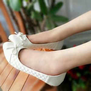 Flat shoes Ribbon Opp38 Sepatu Cewek Putih