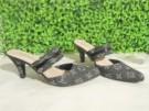 Heels Denim LV Sandal Sepatu Trendy Casual