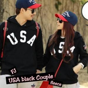 Jaket USA Black Couple Remaja Trendy