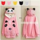 Jaket Cewek Trendy Volkadot Bear Series Pink