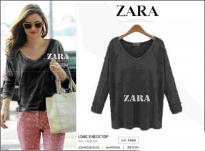 Kaos Zara Black Blouse Cewek